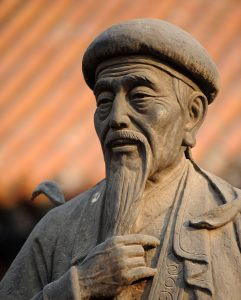 Statue de Chen Wangting, père fondateur du tai-chi-chuan style chen.